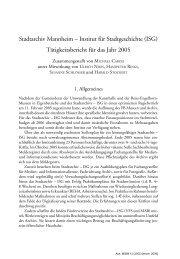 bericht 2005 - Stadtarchiv Mannheim
