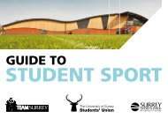 4393-0811 SSP Guide to Student Sport.pdf - University of Surrey's ...