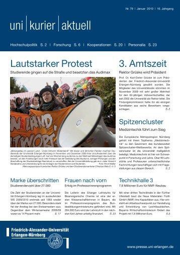 uni kurier aktuell Nr. 79 02/2010 - Friedrich-Alexander-Universität ...