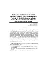 Veri Zarflama Analizi Tekniği ile Sağlık Bakanlığı'na Bağlı Kadın