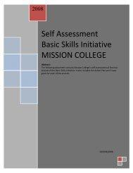 Self Assessment Basic Skills Initiative MISSION COLLEGE