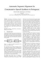 Automatic Segment Alignment for Concatenative Speech ... - INESC-ID