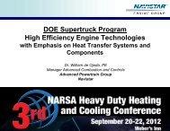 DOE Supertruck Program High Efficiency Engine ... - Narsa