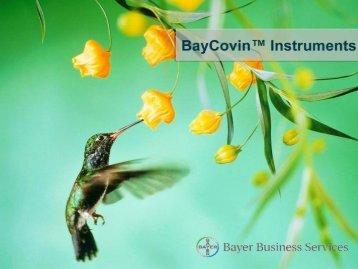 Dr. Matthias Dräger BayCovin™ Instruments - Agilent Technologies