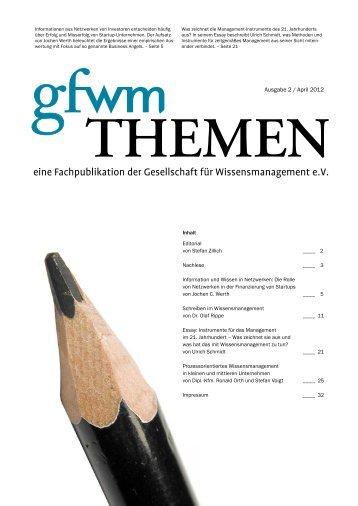 Ausgabe 2/ April 2012 - GfWM - Gesellschaft für ...