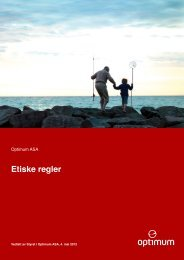 Etiske regler - Optimum ASA