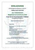 Einladung zur Ordentlichen Mitgliederversammlung 2010 ... - Seite 4