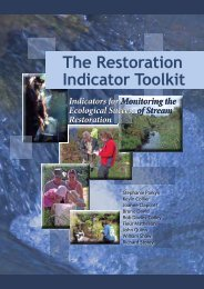 The Restoration Indicator Toolkit - Envirolink