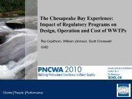 The Chesapeake Bay Experience: Impact of Regulatory ... - pncwa