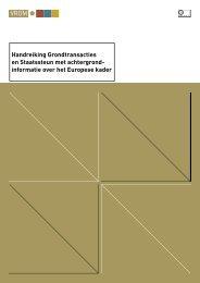 Handreiking grondtransacties - Europa decentraal