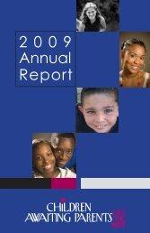 2009 Annual Report - Children Awaiting Parents