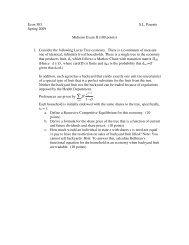 Econ 503 S.L. Parente Spring 2009 Midterm Exam II (100 points) 1 ...