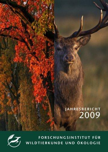 forschungsinstitut für wildtierkunde und ökologie jahresbericht