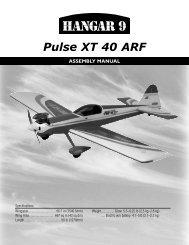 Pulse XT 40 ARF Manual - Horizon Hobby