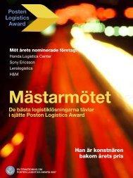 De bästa logistiklösningarna tävlar i sjätte Posten Logistics Award ...