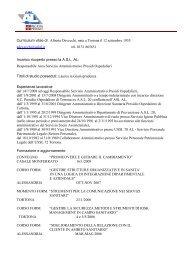 Curriculum vitae dr. Alberta Devecchi, nata a Tortona il 12 ... - ASL AL