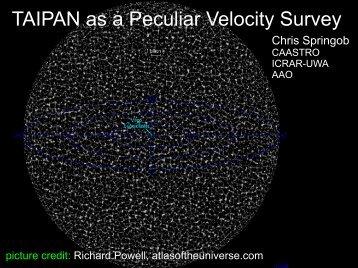 TAIPAN as a Peculiar Velocity Survey