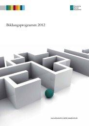 Bildungsprogramm 2012 - Deutsche Makler Akademie DMA
