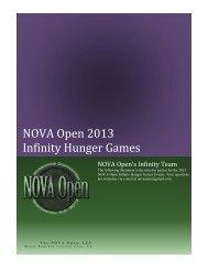 NOVA Open 2013 Infinity Hunger Games