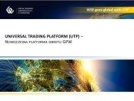 Universal Trading Platform (UTP) - GPW