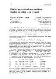 Diophantiske trekanter, pdf - Institut for Matematiske Fag
