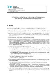 Informationen zur Bearbeitung und Abgabe von Übungsaufgaben ...