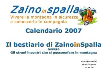 Il Calendario 2007 - ZainoinSpalla