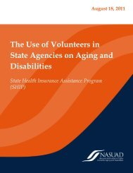 The Use of Volunteers in State Agencies on Aging and Disabilities