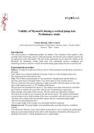 Validity of Myotest® during a vertical jump test: Preliminary study