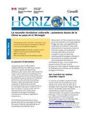 Version PDF ( 249 KB, 4 pages ) - Horizons de politiques