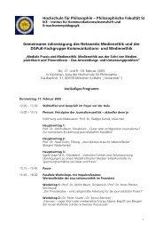 Programm 2005 - Netzwerk Medienethik