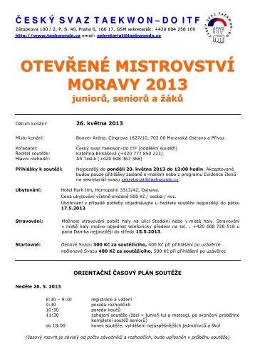 propozice - Český svaz Taekwon-Do ITF