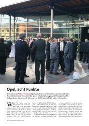 Opel, acht Punkte - Automobil Produktion
