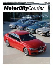 MotorCity Courier 2012 February - BMW Car Club of America