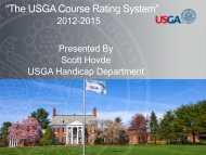 USGA Introduction Presentation - England Golf