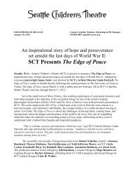 Press Release: The Edge of Peace - Seattle Children's Theatre