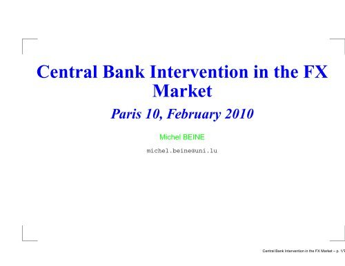 Central Bank Intervention In The Fx Market Michel Beine Sponsored by intervention central, this free site allows users to create math computation worksheets and answer keys for addition, subtraction, multiplication, and division. www yumpu com