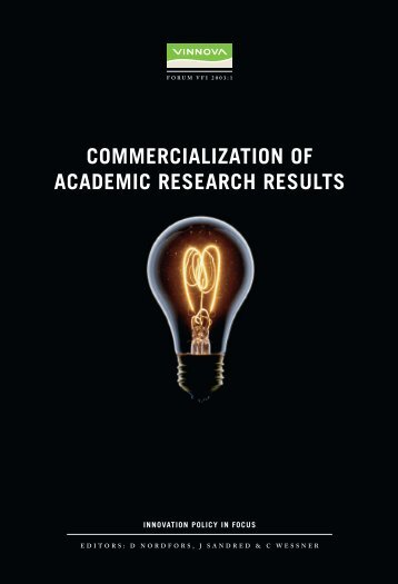 Commercialization of Academic Research Results - Vinnova