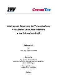 Analyse und Bewertung der Verbundhaftung von ... - CeramTec