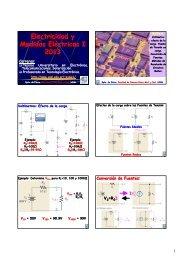 Electricidad y Medidas Eléctricas I 2013
