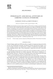 107. Wood B, Wessely S. Personality and social - Professor Simon ...