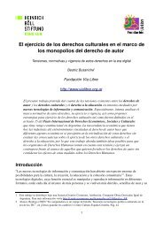El ejercicio de los derechos culturales en el marco de los ...