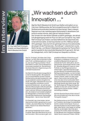 Im Interview - Werth Messtechnik GmbH