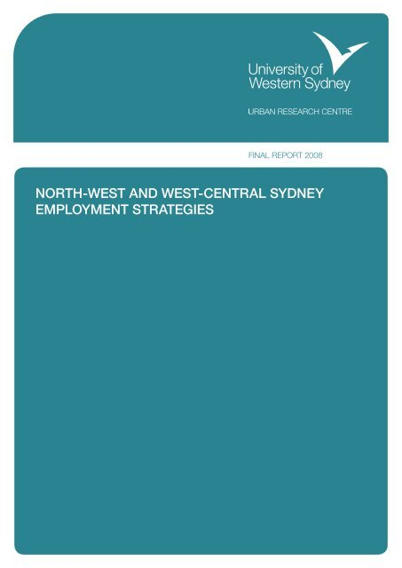 north-west and west-central sydney employment strategies