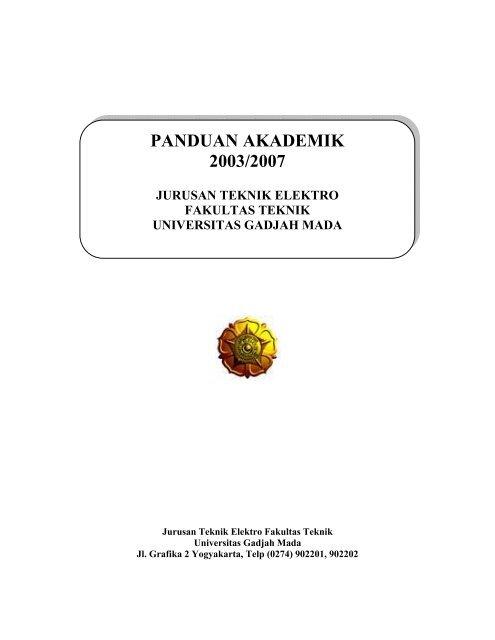 Panduan Akademik 2003 2007 Teknik Elektro Ugm Universitas