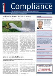 (PDF) | Ausgabe Oktober 2008 - Compliance