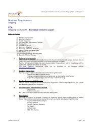 FCA - EU to Japan - Supplier Portal