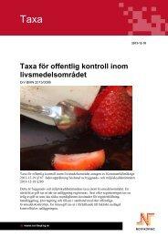 Taxa för offentlig kontroll inom livsmedelsområdet