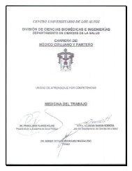 Medicina del Trabajo - Centro Universitario de los Altos