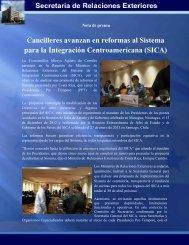 Cancilleres avanzan en reformas al Sistema para la Integración ...